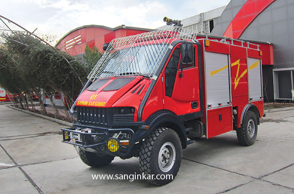 خودرو آتش نشانی مخصوص جنگل